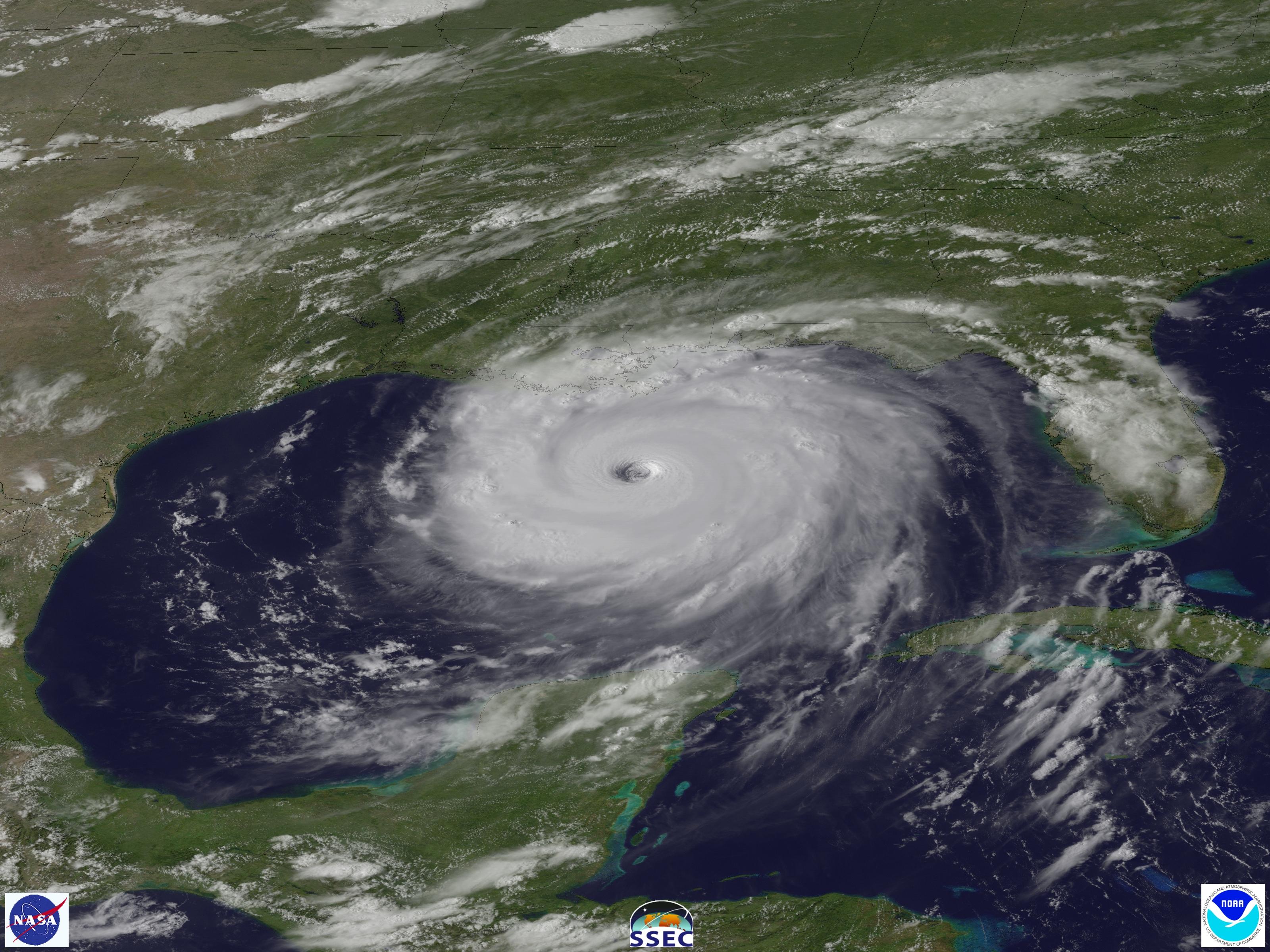 Katrina 2005 satellite