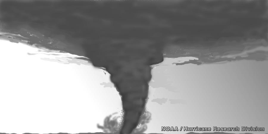 A comparison between hurricanes and tornados