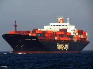 A picture of the M/V Barcelona Express at sea.