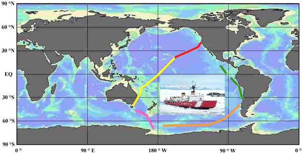 Polar Star map of cruise legs