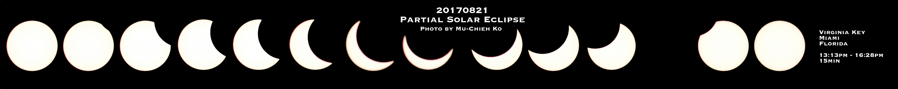 Hurricane scientist Mu-Chieh 'Laura' Ko captures the beautiful phases of the solar eclipse from AOML. Image credit: NOAA