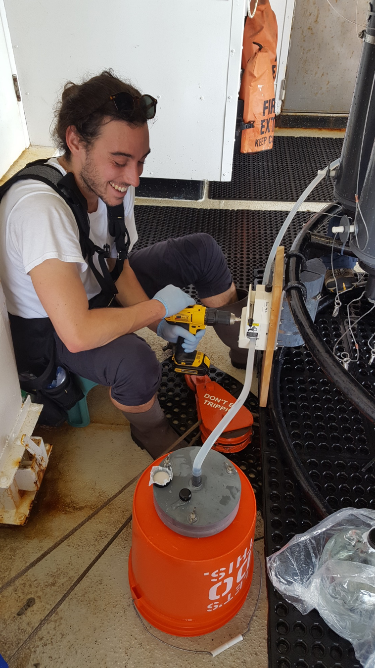 Christian sampling black carbon, looks like a pretty involved process!