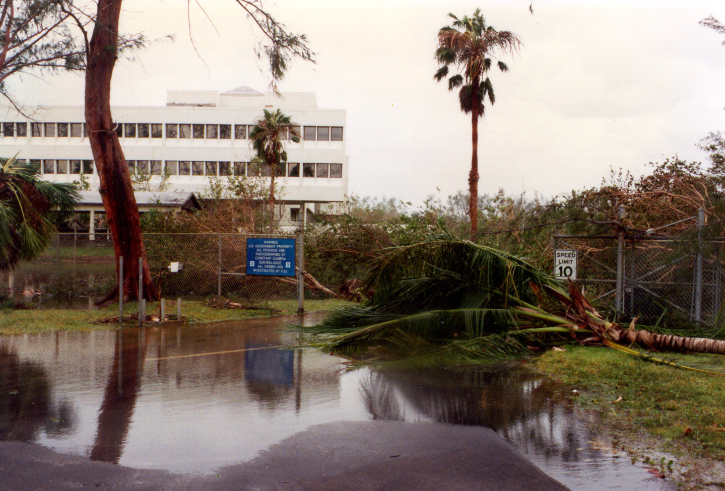 Hurricane Andrew aftermath at the NOAA Atlantic Oceanographic and Meteorological Laboratory. Image credit: NOAA