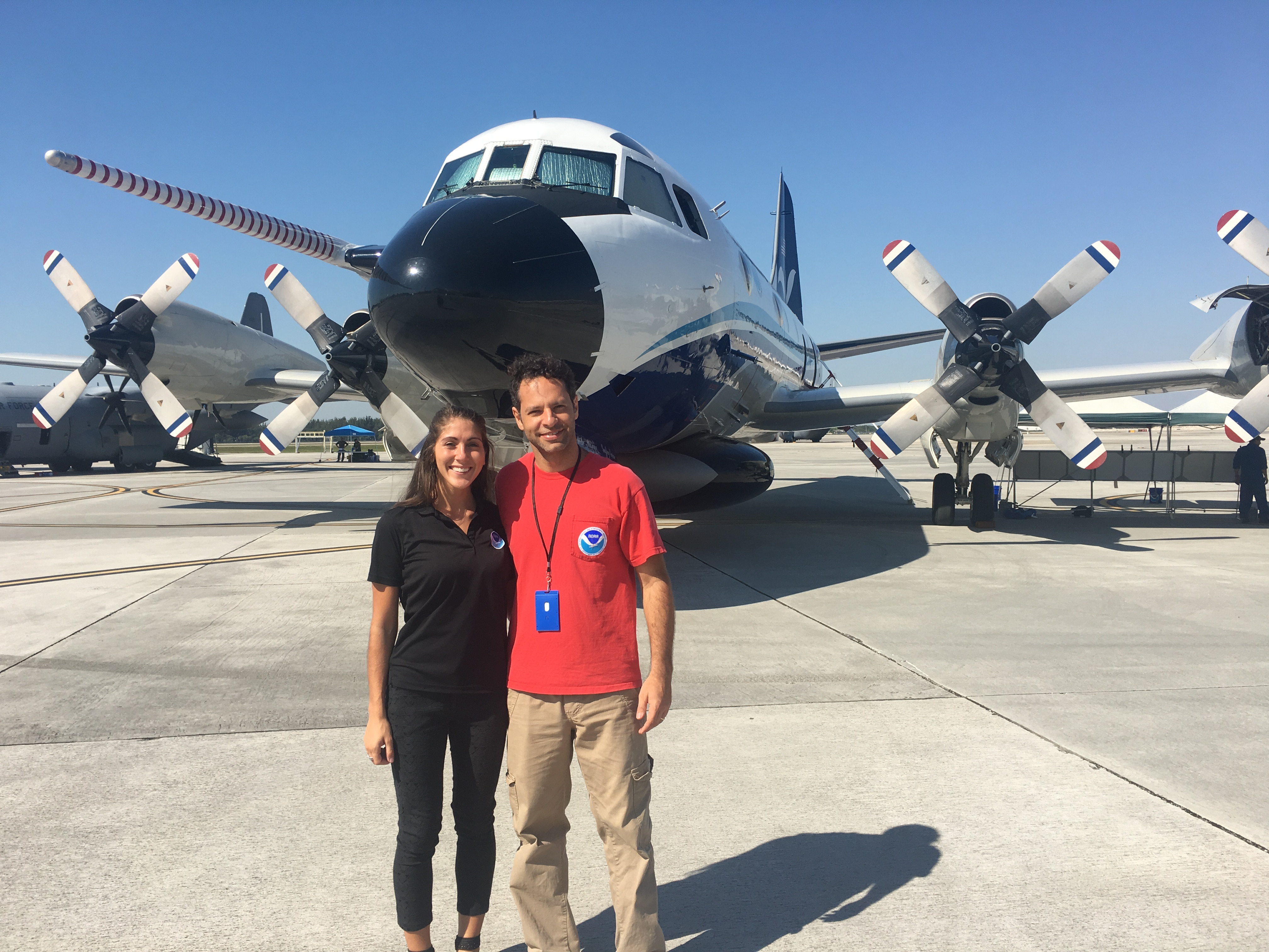 AOML Scientists in front of NOAA's P-3 aircraft, Kermit. Image credit: NOAA