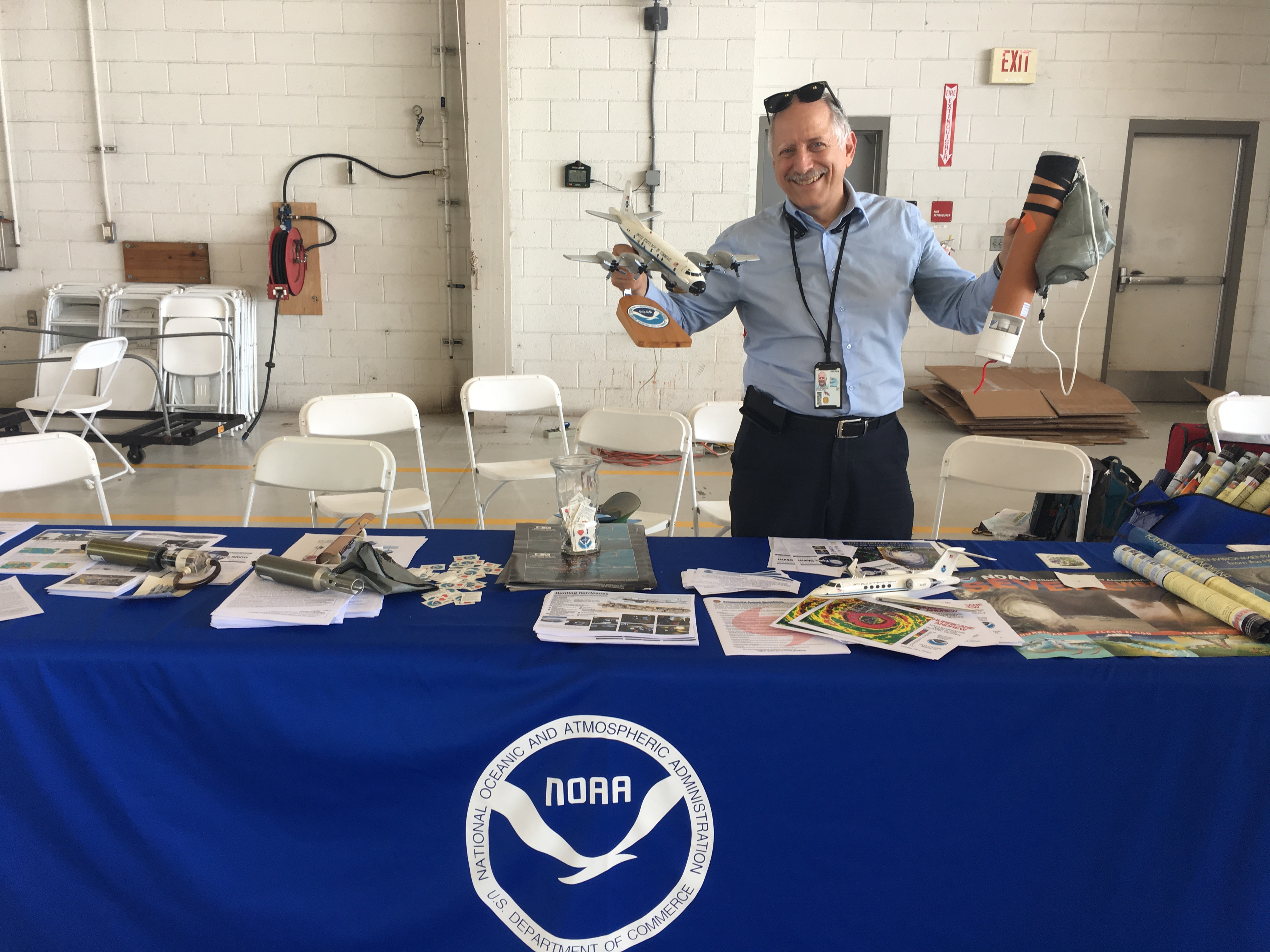 AOML Scientists teaching visitors about hurricane data collection. Image credit: NOAA