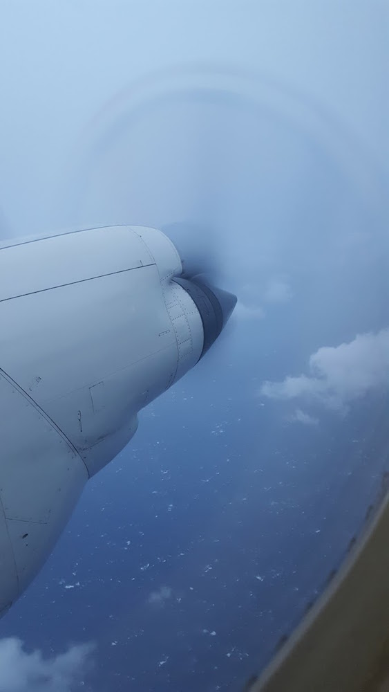 Engines seen from inside the aircraft. Image credit: NOAA