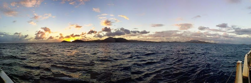 Panoramic image of the island of St. Thomas taken aboard the Nancy Foster. Image credit: NOAA