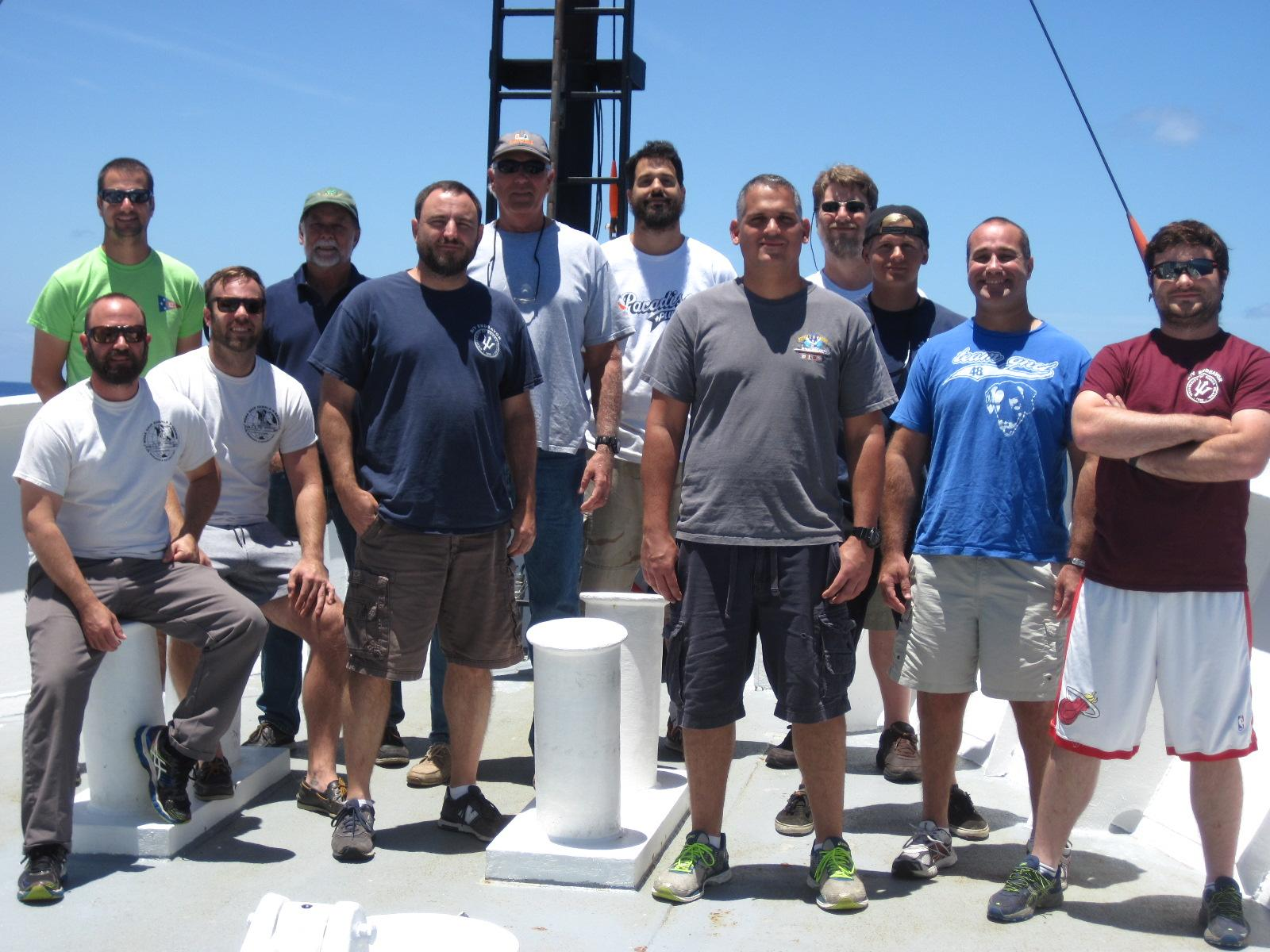 The science team for the May 2017 MOCHA-WBTS cruise. Image credit: NOAA