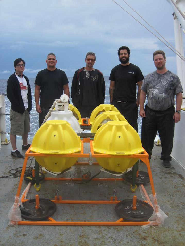 The AOML team with the ABIISS instrument. Image credit: NOAA