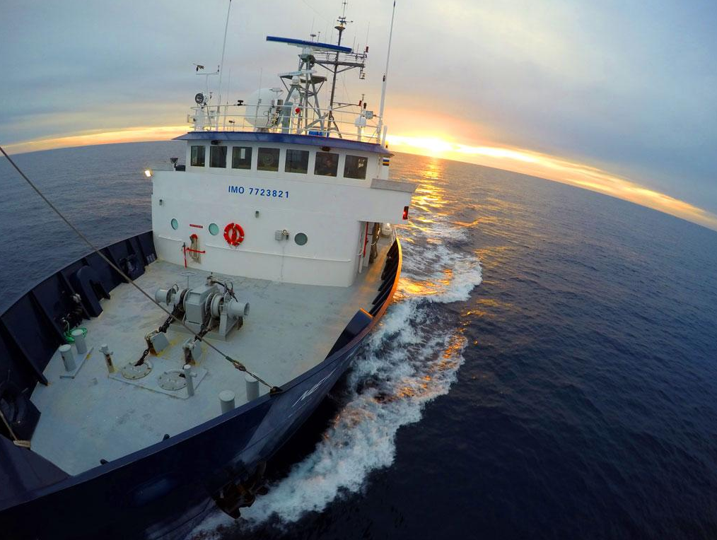 The RV New Horizon is the research vessel that supported the November 2014 CalCofi cruise