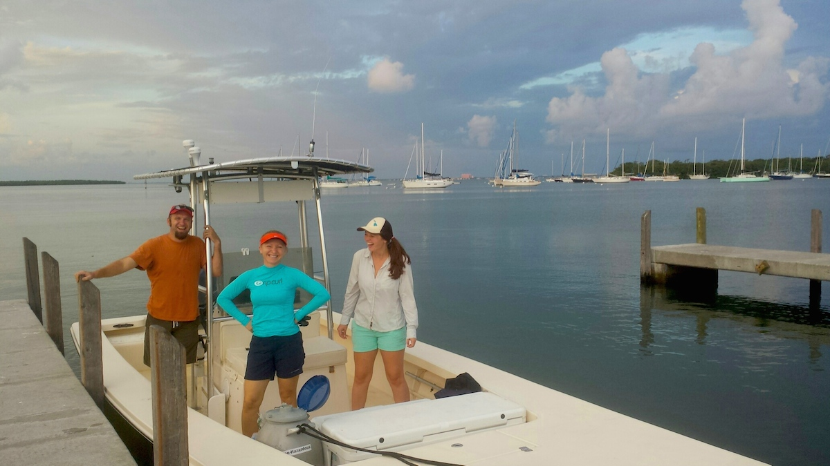 AOML scientists conduct a survey to monitor water quality and other parameters in the Biscayne Bay watershed. Image credit: NOAA