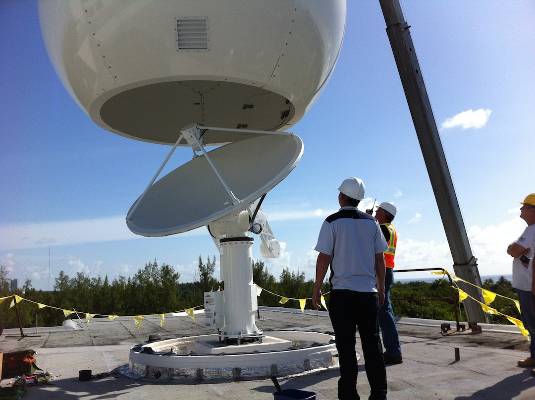 Attaching the radome. Image credit: NOAA