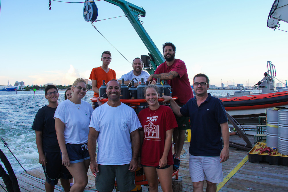 Scientists and crew enjoying their time on the ship. Image credit: NOAA