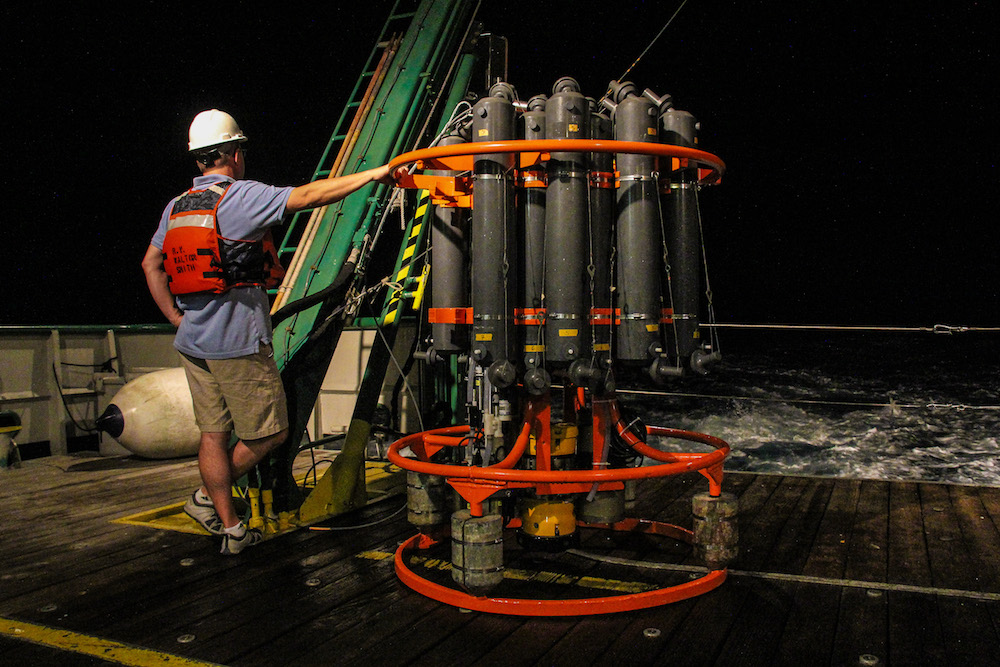 Night time surveys were conducted on this cruise. Image credit: NOAA
