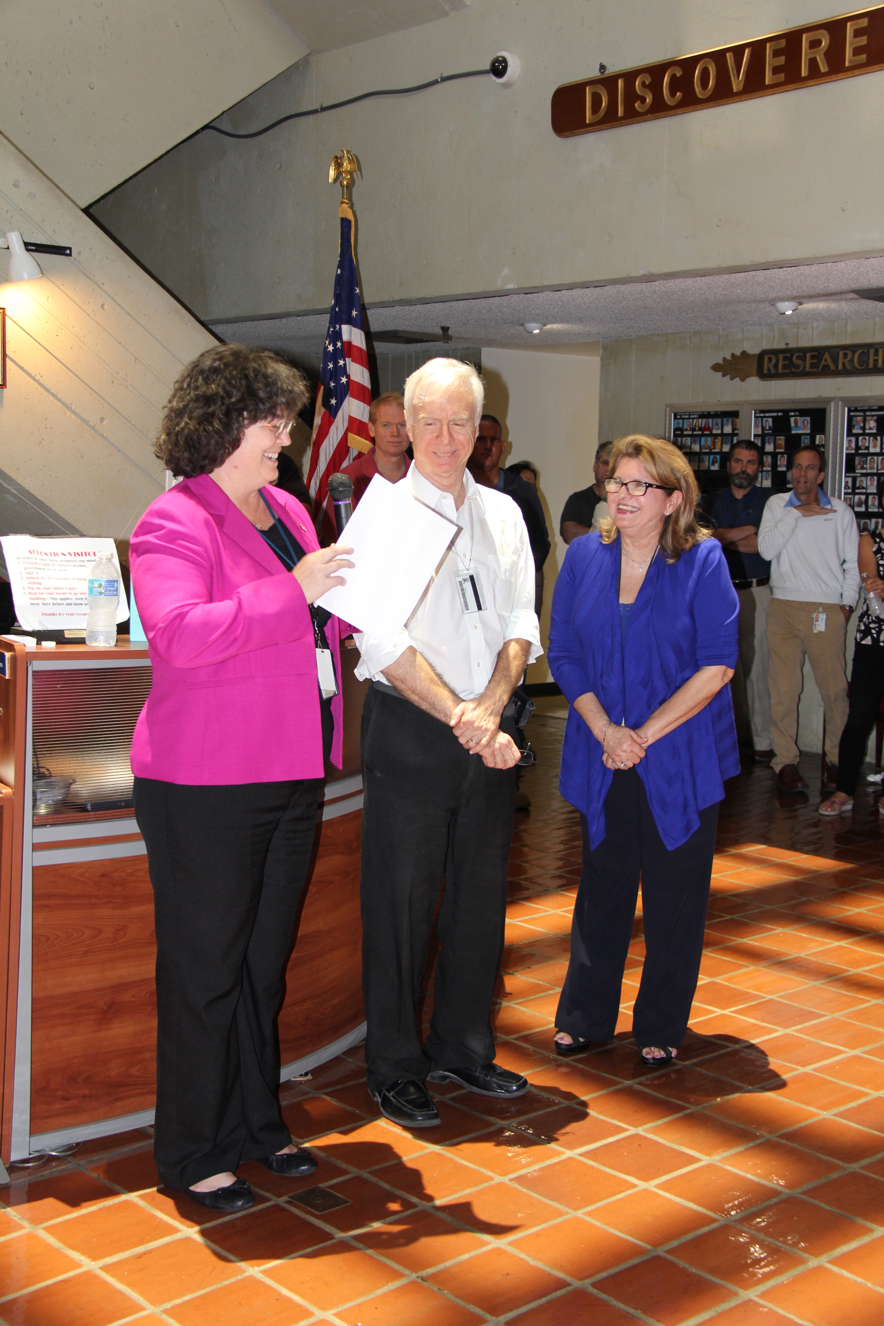 Molly Baringer wishes Gladys a happy retirement. Image credit: NOAA