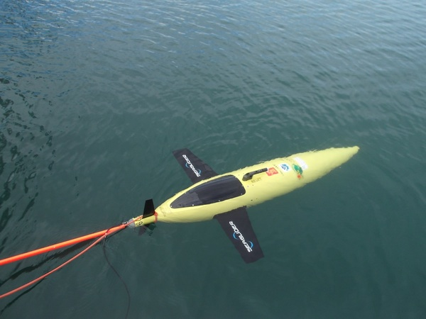 NOAA's underwater gliders are helping scientists better understand the role that the ocean plays in the intensification of tropical cyclones. Image credit: NOAA
