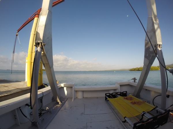 The R/V La Sultana on its way out to collect the gliders. Image credit: NOAA