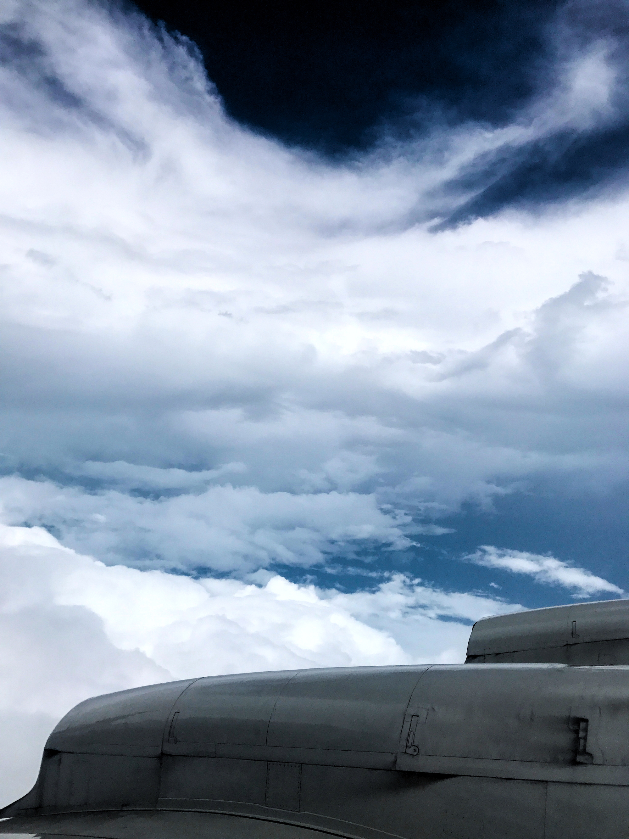 Inside the eye of Harvey aboard NOAA's P3 Orion aircraft. Image credit: NOAA