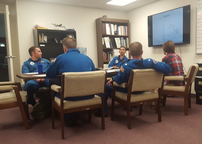 Briefing before Hurricane Hunter flight into Hurricane Matthew. Image credit: NOAA