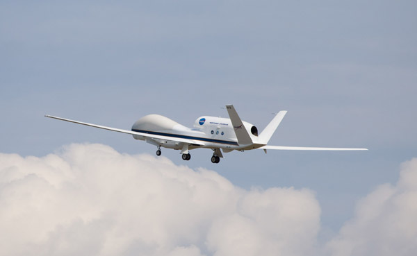 Global Hawk in flight