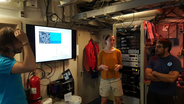 Scientists working aboard the Nancy Foster research ship. Image credit: NOAA