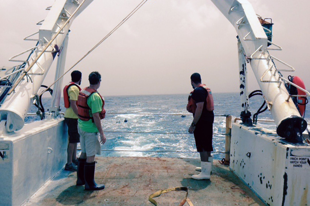 AOML scientists deploy drifters, collect CTD casts and recover moorings. Image credit: NOAA