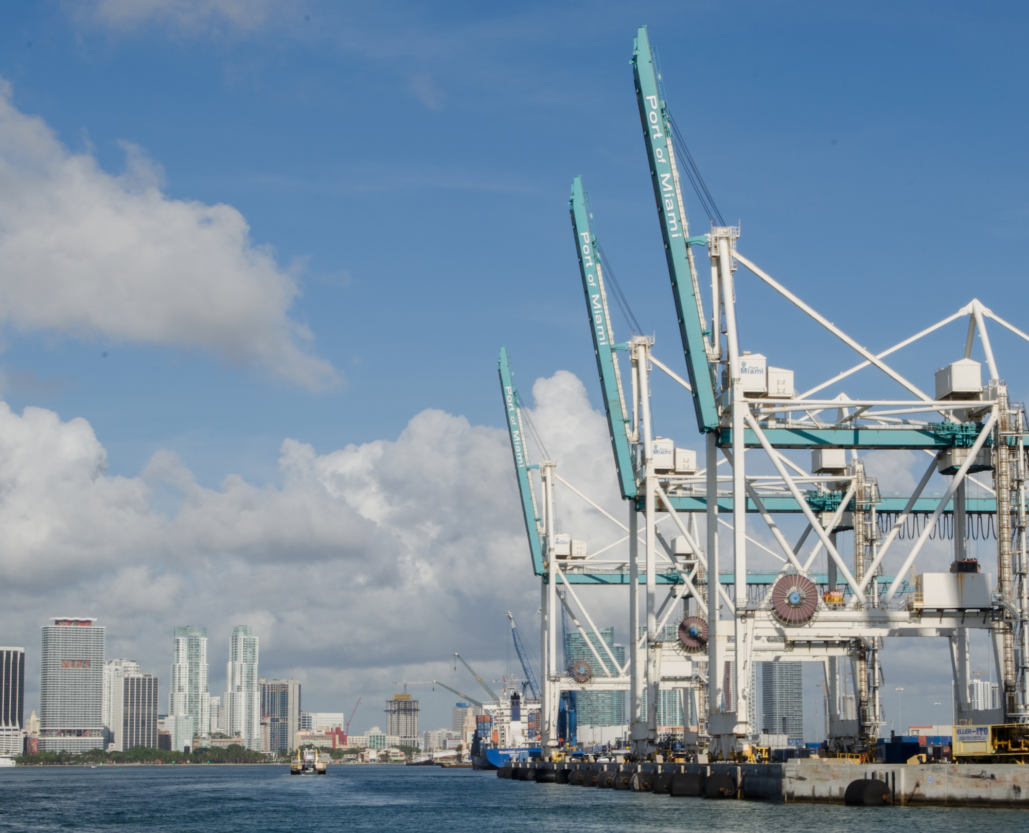 Port of Miami from R/V Walton Smith. Image credit: NOAA
