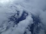 Low cloud bands inside the eye of Hurricane Edouard. Image credit: NOAA