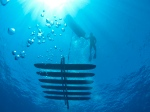 Underwater view of a wave glider at sea. Image credit: Liquid Robotics