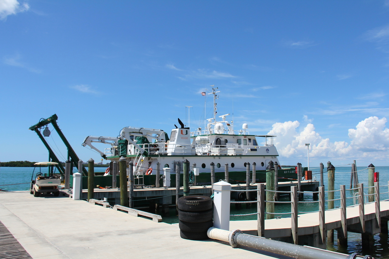 The R/V F.G. Walton Smith docked in Miami. Image credit: NOAA
