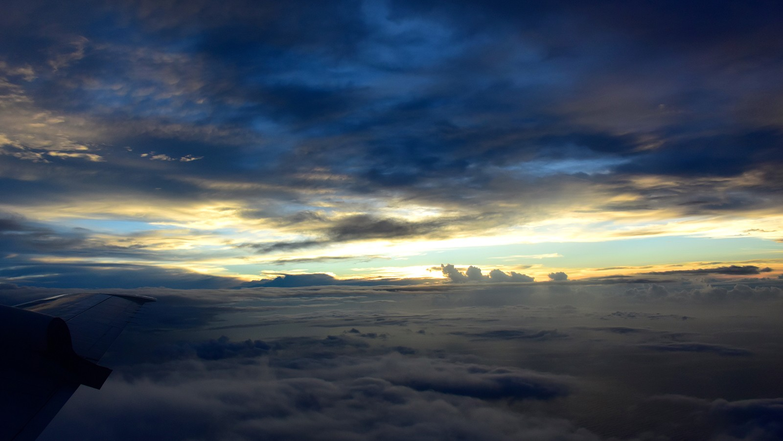 Above the clouds sunset from tropical storm Erika in 2015. Photo Credit, NOAA AOML.