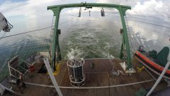 The deck of the R/V Walton Smith, between sampling stations in the Gulf of Mexico. Image credit: NOAA