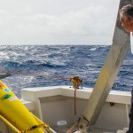 Ubaldo Lopez of the University of Puerto Rico at Mayaguez prepares to launch NOAA ocean gliders in the summer of 2017 off Puerto Rico.