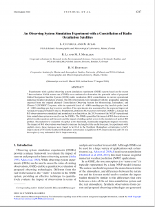 "Image of the paper ""An OSSE with a constellation of Radio Occultation Satellites"""