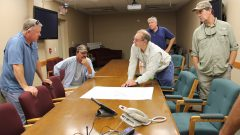 Briefing at Avon Park before the coyote launch. Image credit: NOAA