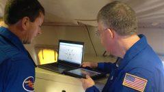 Jason Dunion and Rich Henning discuss the flight plan into Hurricane Edouard. Image credit: NOAA