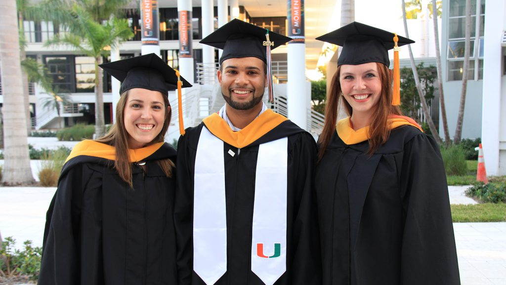 University of Miami Rosenstiel School graduates who worked with NOAA during their graduate research. From left to right: Shannon Jones, Austin Flinn, and Chloe Fleming. Image credit: NOAA