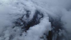 Low cloud bands inside the eye of Hurricane Edouard. Image credit: NOAA