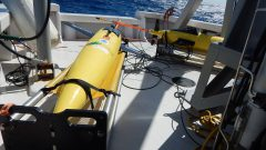 Underwater glider ready for deployment. Image credit: NOAA