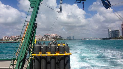 27N Cruise leaves the Port of Miami bound for the Florida Straits. Image credit: NOAA