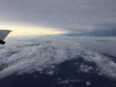 Flying Over Tropical Storm Erika. Photo Credit: NOAA.