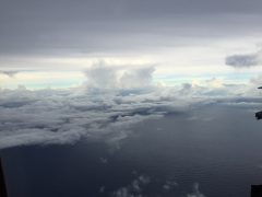Clouds in Tropical Storm Erika. Photo Credit: NOAA.