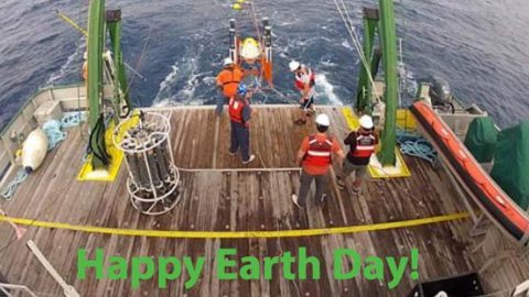 Happy Earth Day from the South Florida Project team in the Florida Straits. Image credit: NOAA