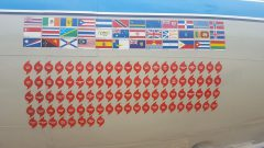 Side of the P3 decorations. Photo Credit: NOAA AOML.