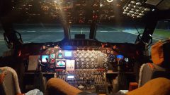 Cockpit of the flying lab. Photo Credit: NOAA.