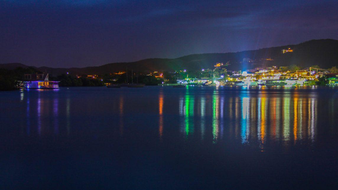 Lights in Puerto Rico. Image credit: NOAA