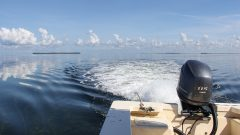 Small Boat sampling for the Juvenile Sportfish Survey. Photo Credit: NOAA AOML.
