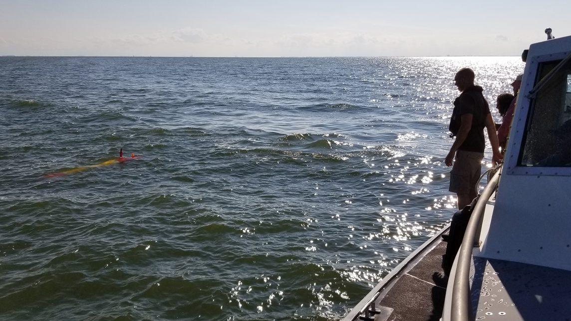 eAUV post-deployment. Photo Credit: NOAA.