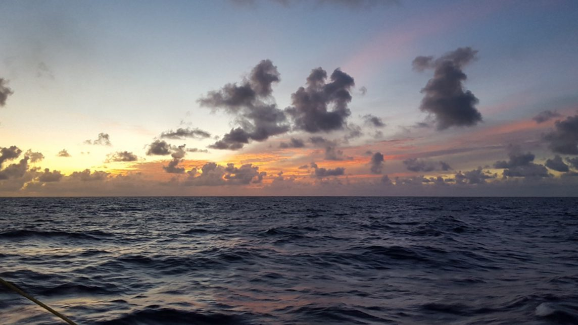 A beautiful sunrise I got to see while waiting for my turn at the rosette. Photo Credit: NOAA.