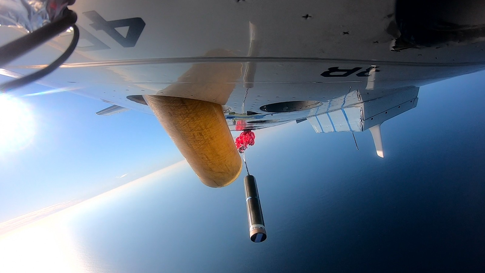 video of Alamo test deployments from the P-3 Hurricane Hunter Aircraft. Video Credit: NOAA AOML.
